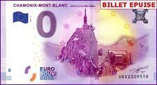 UE EZ-2 / CHAMONIX-MONT-BLANC / BILLET SOUVENIR 0 € / 0 € BANKNOTE 2017-2