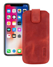"""IPHONE 11 pro Max 6.5 """" Leather Cover Case Cover Antique Red + Silicone Case"""