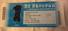 ED SHEERAN TICKET STUB - 20th April 2017 - Metro Radio Arena - Newcastle