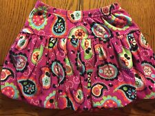 Hanna Andersson Bubble Skirt Magenta Fleece Paisley Girls Size 100 4/4T