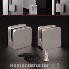 Edelstahl Glashalter eckig 45x45 mm Glasklemme PS: 1,5-10,76 mm Glasbefestigung