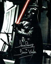 Dave PROWSE SIGNED Autograph Darth VADER Star Wars 10x8 Photo G AFTAL COA