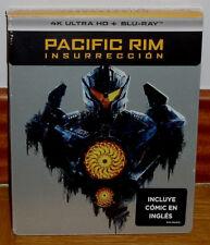 Pacific Rim Aufstand Steelbook 4K Ultra HD + Blu-Ray + Comic Book Neu (Ohne