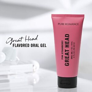 Pure Romance Great Head! Pink Strawberry Oral Gel!