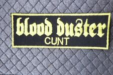 Blood Duster:cunt logo, Iron On patch (Napalm Death, Buzzoven, Brutal Truth)