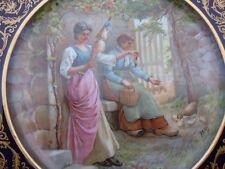 Assiette en porcelaine Limoges France PAUL PASTAUD décor animé signé LAMY
