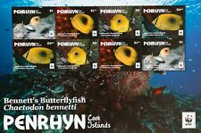 Penrhyn(Cook Islands)-ButterflyFishes.-WWF-1 M/Sh.. MNH**, CW 337c