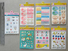 Vintage 1980's Sanrio Characters Stickers Seals