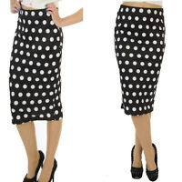 SCUBA WIGGLE PENCIL SKIRT 50'S VINTAGE POLKA DOT ROCKABILLY  SIZE 8- 10