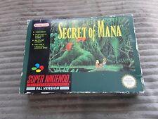 Super Nintendo Game * SECRET OF MANA * Complete SNES Retro Rare