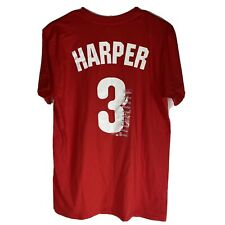 Philadelphia Phillies 3 Bryce Harper MLB Tee Shirt Mens Size Medium Red