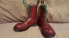 vintage Dr. MARTENS size 4 cherry ENGLAND steel punk goth metal festival rare