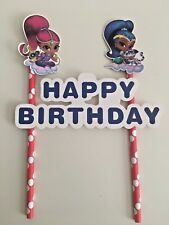 Shimmer and Shine themed Cake Topper Kids Birthday Party decoration diy