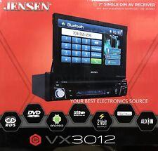 """NEW JENSEN VX3012 Single DIN Flip-out DVD/CD/AM/FM Car Stereo w/ 7"""" Touchscreen"""