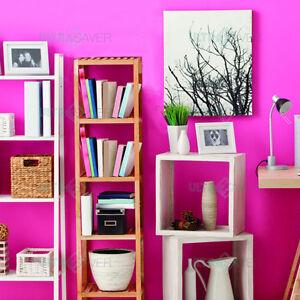 5 Tier Bamboo Storage Bathroom Rack Wall Shelf BookShelf Organiser Shop Display