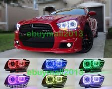 RGB Halo Rings For Dodge Charger Multi-Color SMD LED Demon Devil Angel Eyes DRL