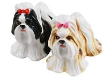 More details for shih tzu gift, cruet set handmade by blue witch