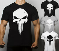 Punisher T Shirt Crossfit Workout Training Monster Gym Rat Superhero Superman
