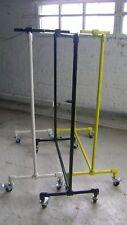 Urban Industrial Pipe Rack Yellow-White-Black Rolling Garment Pipe Rack