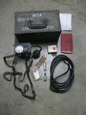Vintage Mining Safety Appliance Msa Explosimeter, Model 2