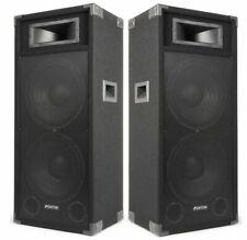 "😍 COPPIA CASSE AMPLIFICATE ATTIVE DJ PALCO 3200W 2 WOOFER 38 CM 2 X 15"" LIVE 😍"
