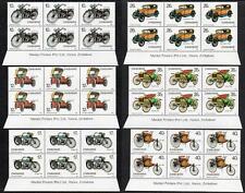 ZIMBABWE MNH 1986 100th Anniversary of Motoring Imprint Blocks of 6