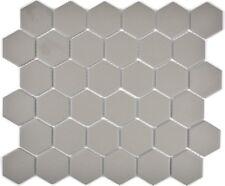 Mosaik Fliese Keramik Hexagon grau rutschhemmend Dusche 11B-0202-R10_f 10 Matten