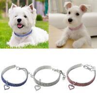 Bling Pet Collar Necklace Rhinestone Dog Cat Kitten Diamante Pendant Pet Puppy