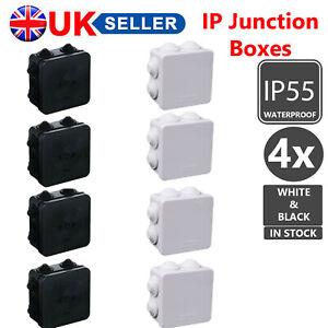 4X IP55 GREY/BLACK IP TERMINAL JUNCTION BOXES WEATHERPROOF CABLE OUTDOOR CCTV