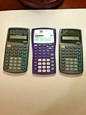 Texas Instrument Calculator Lot 1 TI-30XIIS and 2 TI-30Xa Calculators Tested Wor