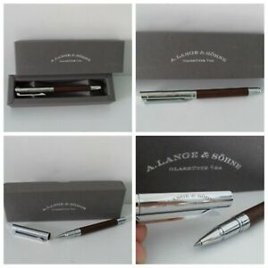 A. LANGE & SOHNE Pen - Authentic - Beautiful Wood & Stainless Steel Barrel NEW!