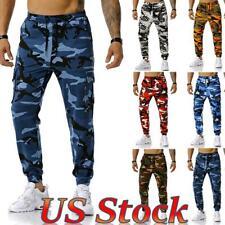 Men Camouflage Cargo Combat Army Pants Joggers Sport Sweatpants Jog Trousers US