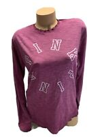 NWT VICTORIA's Secret PINK long Sleeve Graphic Tee Shirt Size XS