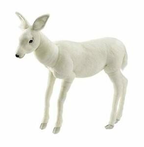 HANSA True-to-Life Baby Reindeer in White