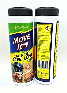 2 x 240g PestShield Move It Cat and Dog Natural Repellent
