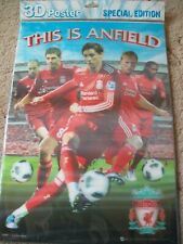 LIVERPOOL Football Club * 3D Poster ~ This is Anfield * Gerrard, Torres,  Hyppia