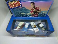 1998 HOT WHEELS TARGET EXCLUSIVE ELVIS BLUE HAWAII 4 CAR SET IN 1/64 SCALE