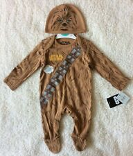 Baby Boys Star Wars Chewbacca All In One Babygrow Outfit/Fancy Dress Costume 3-6