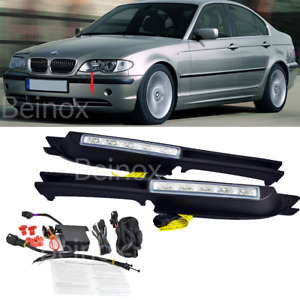 02-05 BMW E46 LED Daytime Running Lights DRL Fog Lamp Bumper Kit 3-Series