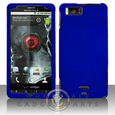 Motorola MB810 Droid X/X2 Shield Blue Rubberized Cover Shell Protector Guard