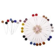 30x Alfileres de Bufanda Pin de Cristal Prendedores de Hijab de Costura DIY