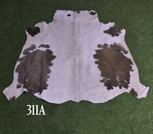 """New Cowhide Rugs Hair On COW HIDE Rugs Area Cow Skin Leather Rugs (41"""" x 41"""")"""