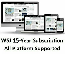 Wall Street Journal WSJ 15-Year Digital Subscription All Platforms REGION FREE
