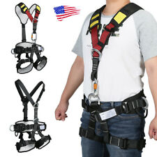 New listing Climbing Harness Full Body Belt Chest Waist Rock Tree Caving High Protection US