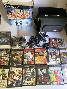 PS2 Slim Silver Console bundle! Tested and working with Games and More!