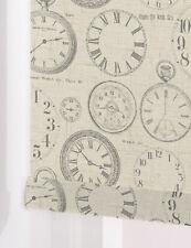Vintage Clock Made To Measure Patterned Roller Blinds  BLACKOUT or STANDARD