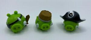3 Pig Head Figures Original Parts Angry Birds Go! Pirate Pig Attack Game