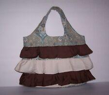 Handbag/Tote Medium Handmade Floral Ruffles Multi-Color Lining With Pocket New