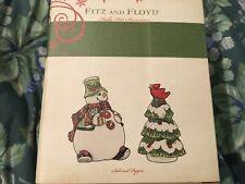 Fitz & Floyd Holly hat snowman salt & pepper snowman & Christmas Tree new