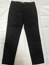 NWOT Cathriene Malandrino Woman Pants Trousers SZ 4 Cotton Slim Fit Black